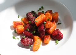 Oven Roasted Beets and Carrots