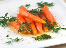 honey glazed sous vide carrots